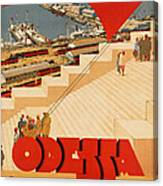 Vintage Ukraine Travel Poster Canvas Print