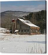 Vintage Weathered Wooden Barn Canvas Print