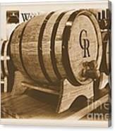Vintage Winery Photo Canvas Print
