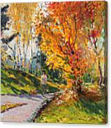 Viola In A Nice Autumn Day  Canvas Print