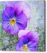 Viola On Glass Canvas Print
