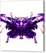 Violet Abstract Butterfly Canvas Print