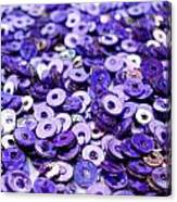 Violet Beads And Sequins Canvas Print
