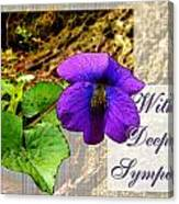 Violet Greeting Card  Sympathy Canvas Print