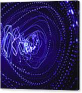 Violet Neon Lights 2 Canvas Print