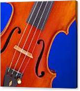 Violin Isolated On Blue Canvas Print