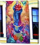 Virgin Mary Mural Canvas Print