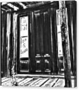 Virginia City Ghost Town Door II Canvas Print