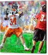 College Lacrosse 10 Canvas Print