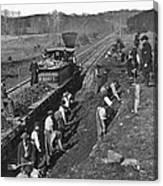 Virginia: Railroad, C1861 Canvas Print