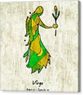 Virgo Artwork Canvas Print