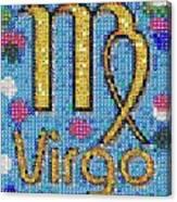 Virgo Zodiac Mosaic Canvas Print
