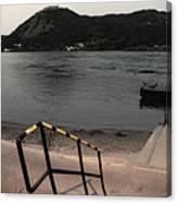 Visegrad Hill With Danube Canvas Print