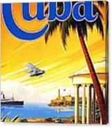 Visit Cuba Canvas Print