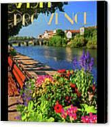 Visit Provence Poster Canvas Print