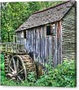 Visiting The Old Mill Canvas Print