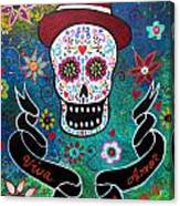 Viva El Amor Day Of The Dead Canvas Print