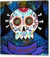 Viva Los Muertos Bat Canvas Print