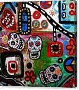 Viva Tres Muertos Canvas Print