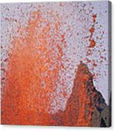 Volcanic Eruption, Spatter Cone Canvas Print