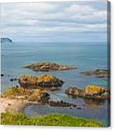 Volcanic Rock Formations In Ballintoy Bay Canvas Print