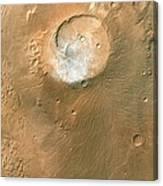 Volcano On Mars Canvas Print