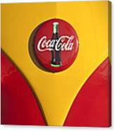 Volkswagen Vw Bus Coco Cola Emblem Canvas Print