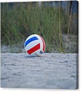Volleyball On The Beach Canvas Print