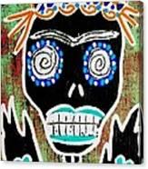 Voodoo Queen Sugar Skull Angel Canvas Print