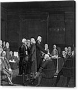 Voting Independence, 1776 Canvas Print