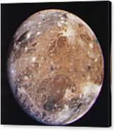 Voyager I Photo Of Ganymede, Jupiter's Third Moon Canvas Print