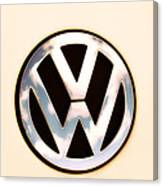 Vw Emblem Canvas Print