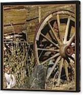 Wagon Wheel Cat Canvas Print