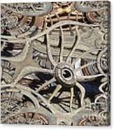 Wagon Wheel Fractal Canvas Print