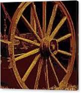 Wagon Wheel In Sepia Canvas Print
