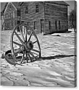 Wagon Wheel In Winter Canvas Print