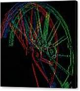 Wagon Wheels In Wheels Canvas Print