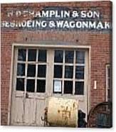 Wagonmaking Canvas Print