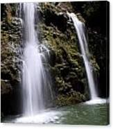 Waikani Falls And Pond Canvas Print