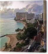 Waikiki At Twilight Canvas Print