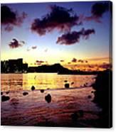 Waikiki Lagoon Dawn Canvas Print