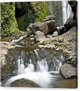 Wailua Falls And Rocks Canvas Print