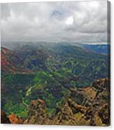 Waimea Canyon Weather Canvas Print