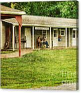 Waiting By The General Store Canvas Print