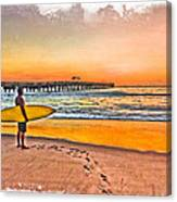 Waiting For Waves Canvas Print