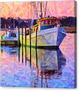 Waiting In The Harbor Canvas Print