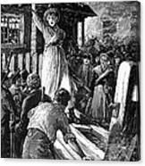 Wales: Rebecca Riots, 1843 Canvas Print