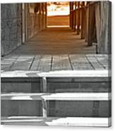 Walk Into The Past Canvas Print
