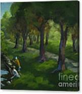 Walking Again In Cedar Park Canvas Print