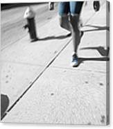 Walking Blues Canvas Print